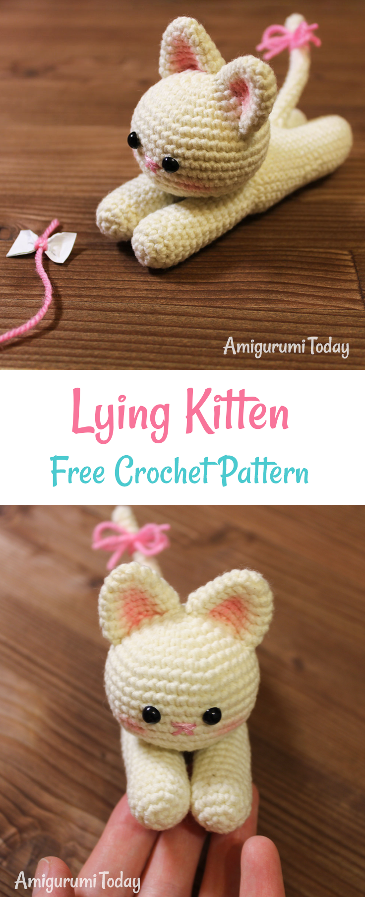 Lying Kitten Amigurumi Pattern Amigurumi Today Crochet Cat Pattern Crochet Cat Crochet Patterns Amigurumi