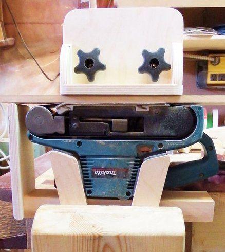 Thickness Sander Attachment For My Belt Sander Belt Sander Woodworking Woodworking Workshop