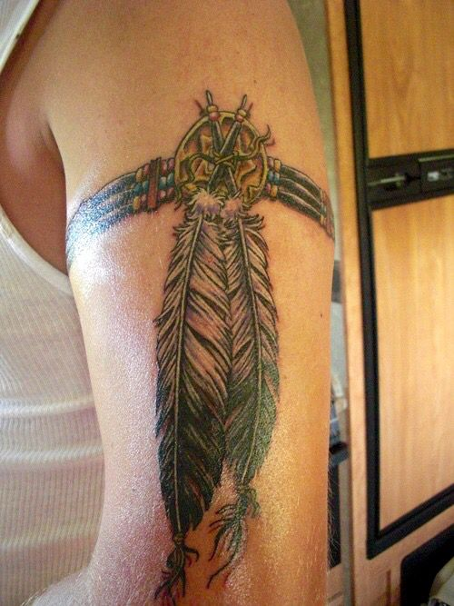 Native American Arm Band Tattoo Love This One Tribal Band Tattoo Feather Tattoos Arm Band Tattoo