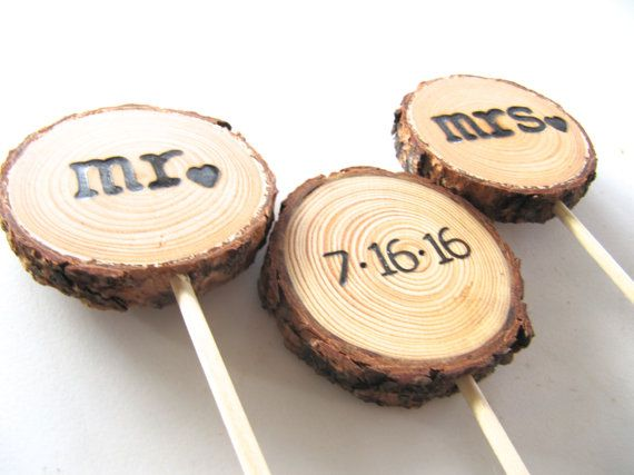 Wedding Cake Topper Custom Wood Slice Rustic In 2018 That Day