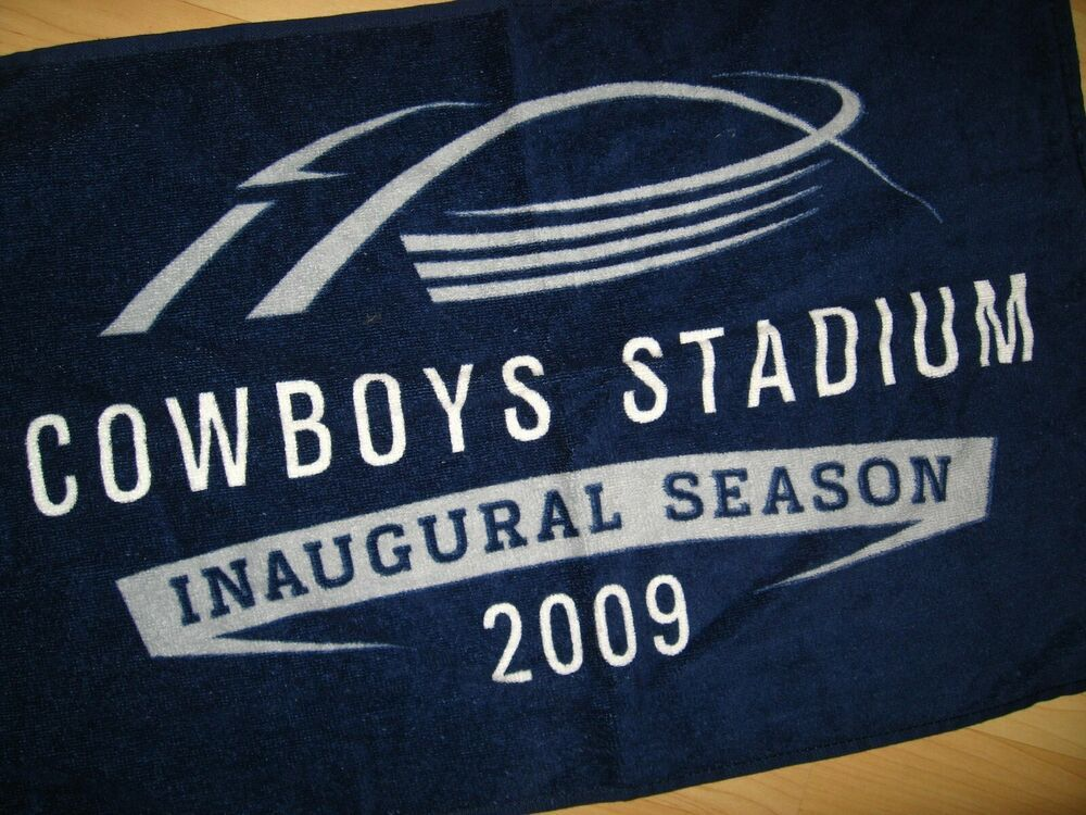 Dallas TX Cowboys Stadium Towel 2009 Inaugural Season