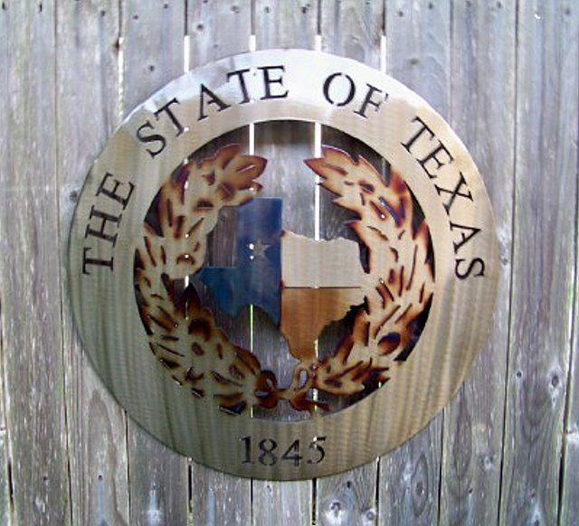 Texas Metal Art The State Of Texas 1845 Texas Wall Decor Texas Metal Art Texas Decor Texas Gifts