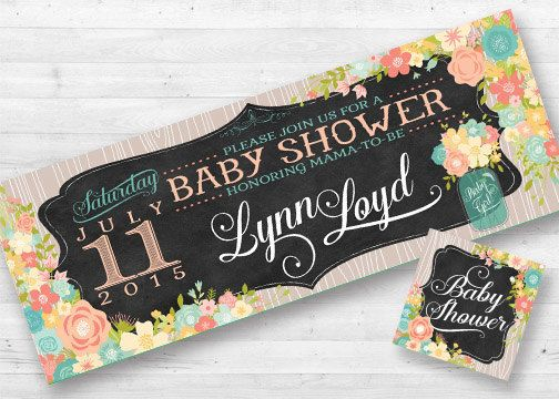 editable facebook banner event baby shower bridal shower wedding