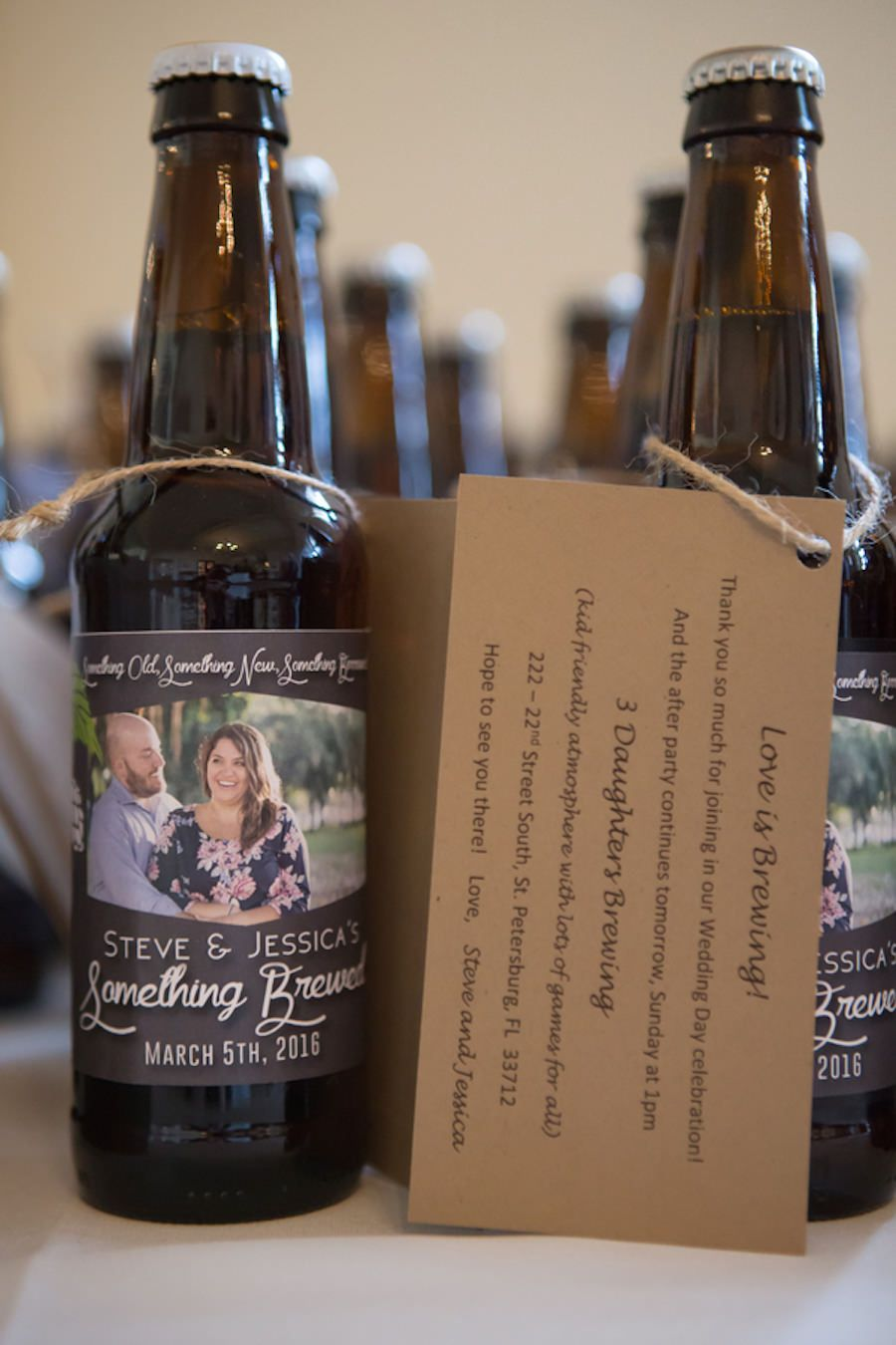 Craft Beer Wedding Favor With Customized Bride And Groom Label Craftbeer
