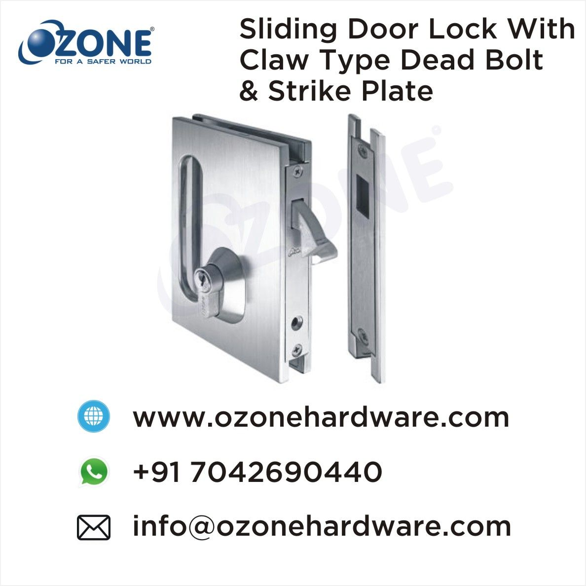 Sliding Doorlock With Claw Type Dead Bolt Strike Plate Glass Doorlocks Manufacturers Of Glassdoor Locks Glass Deadbolt Door Locks Glass Door Lock