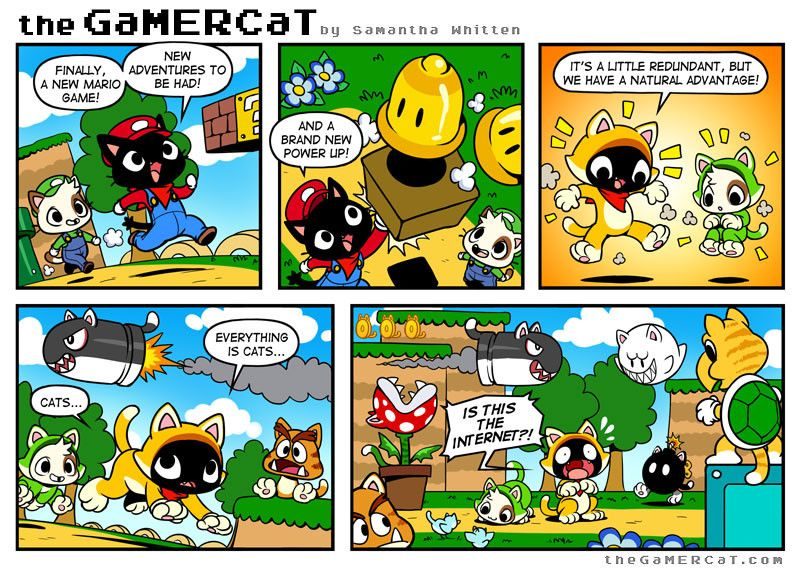 Check out the comic the GaMERCaT :: Super Meowio World