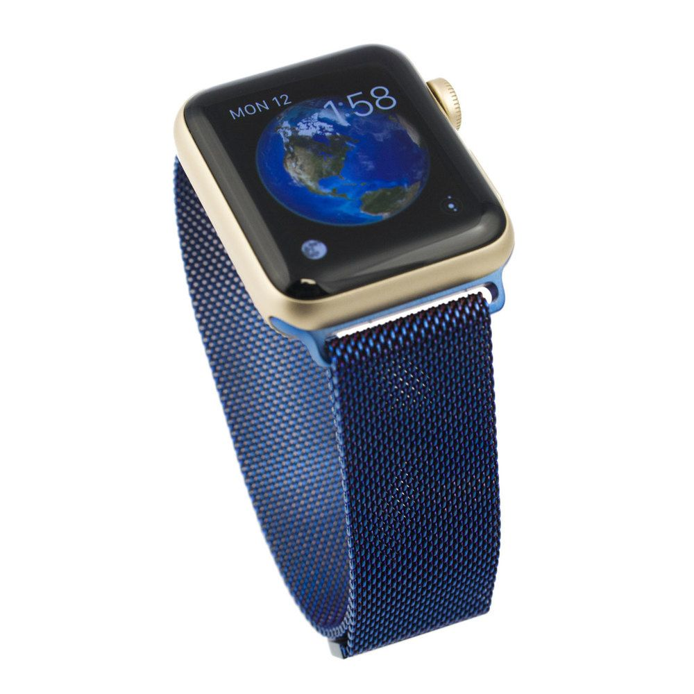 Apple Watch Milanese Loop Blue Replacement Band Apple
