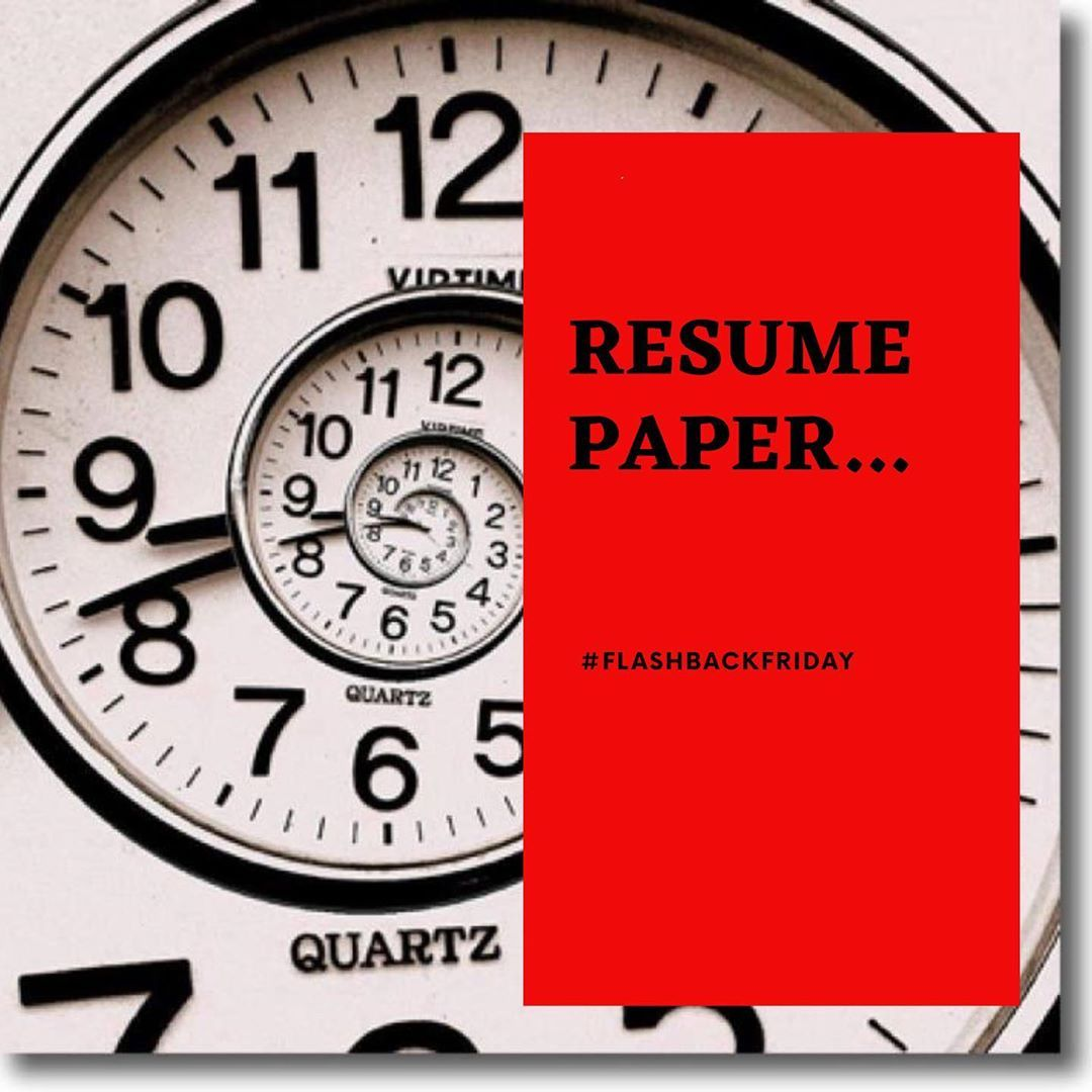 Do Yall Remember Resume Paper As A Millennial I Personally Havent Used It To Submit My Resume But I Do Remember My Mom Yelling At My Resume Job Search Resume