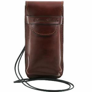 Exclusif étui pour lunettes/Smartphone en cuir - Beige Tuscany Leather RsPhgE8