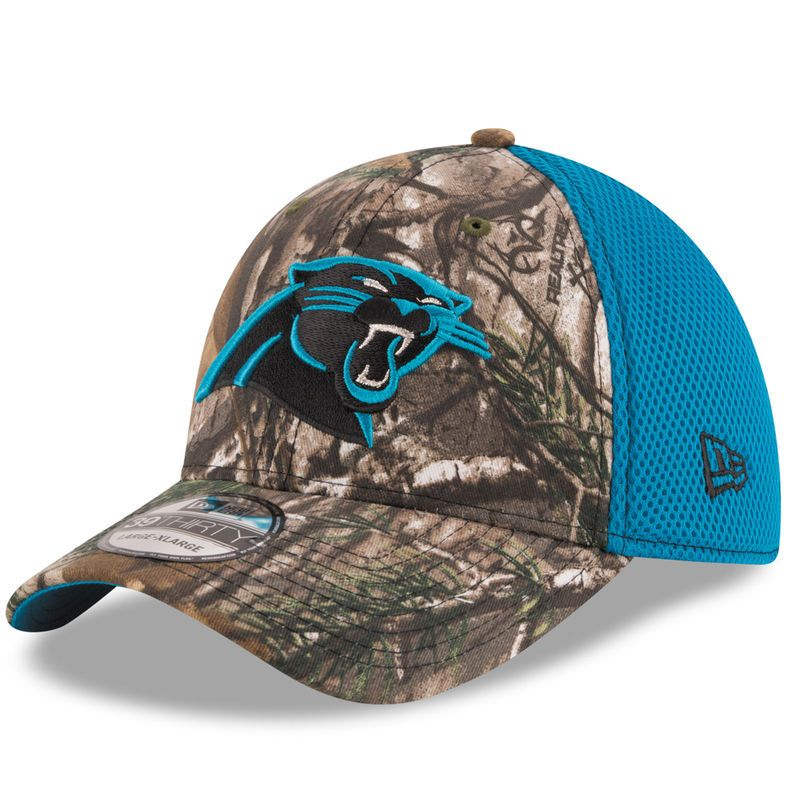 Carolina Panthers New Era Realtree Camo Neo 39THIRTY Flex Hat ... 9c332a310