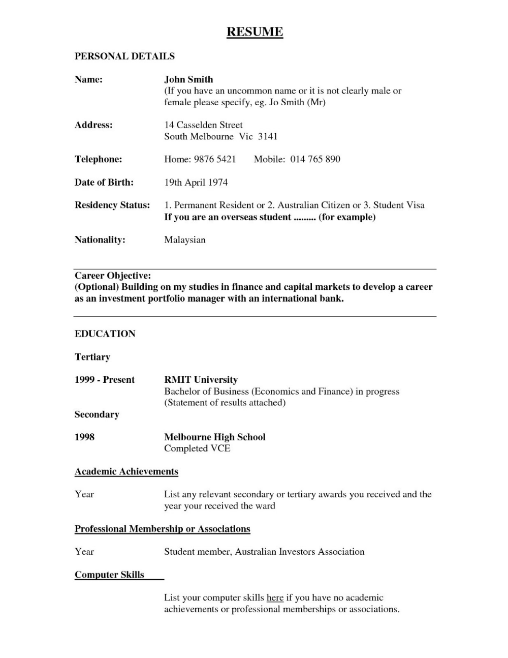 Academic Cv Uk Samples 2019 2020 (With images) Bank