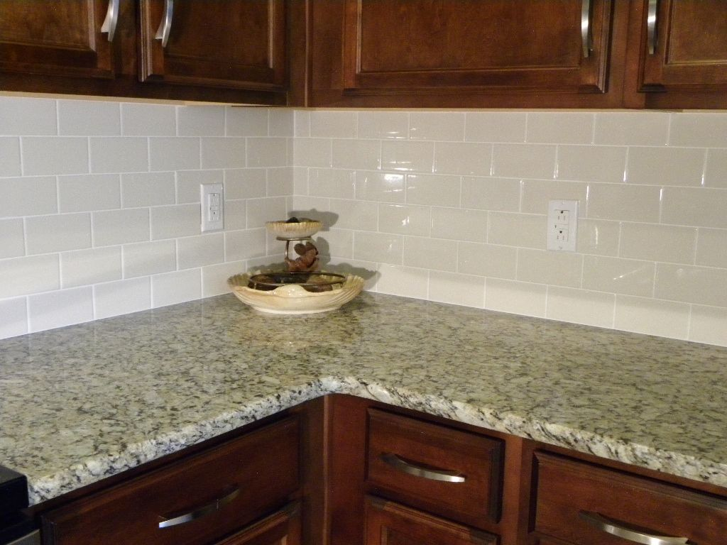 - Glazed Subway Tile Backsplash Is Easy To Clean And Adds A Rich
