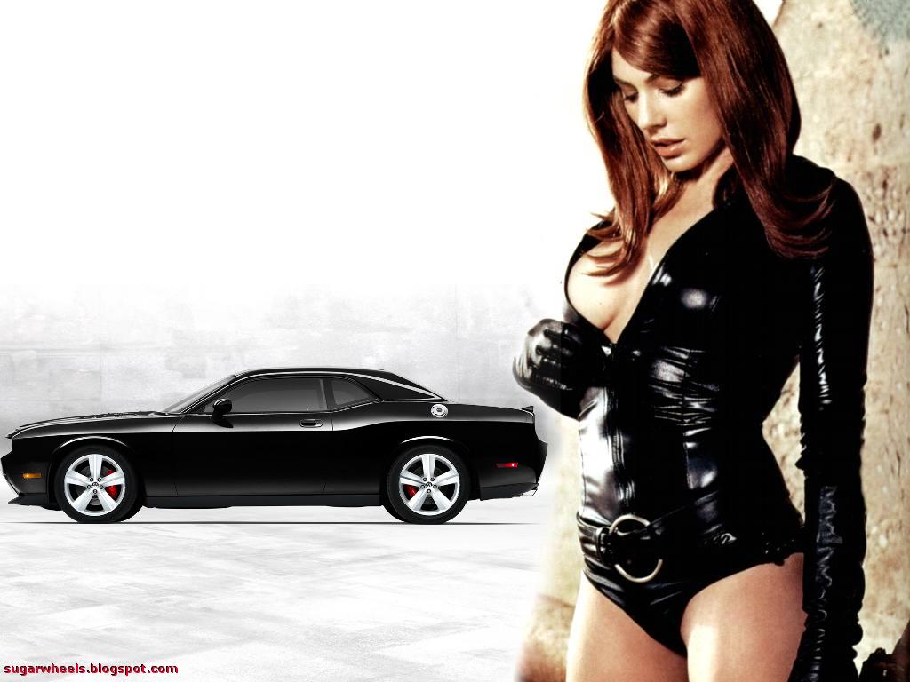 girls and muscle cars wallpaper | krista allen dodge challenger