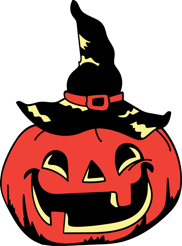Vintage Halloween Pumpkin Head SVG File Great for