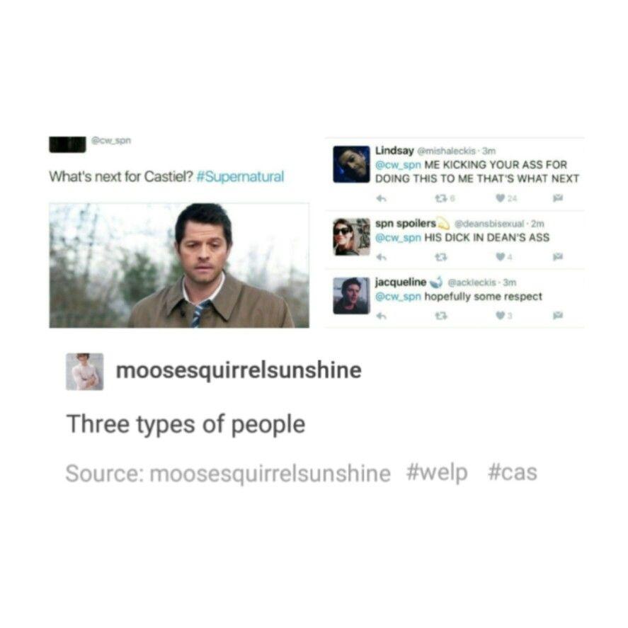 supernatural tumblr textpost castiel cas destiel funny lol