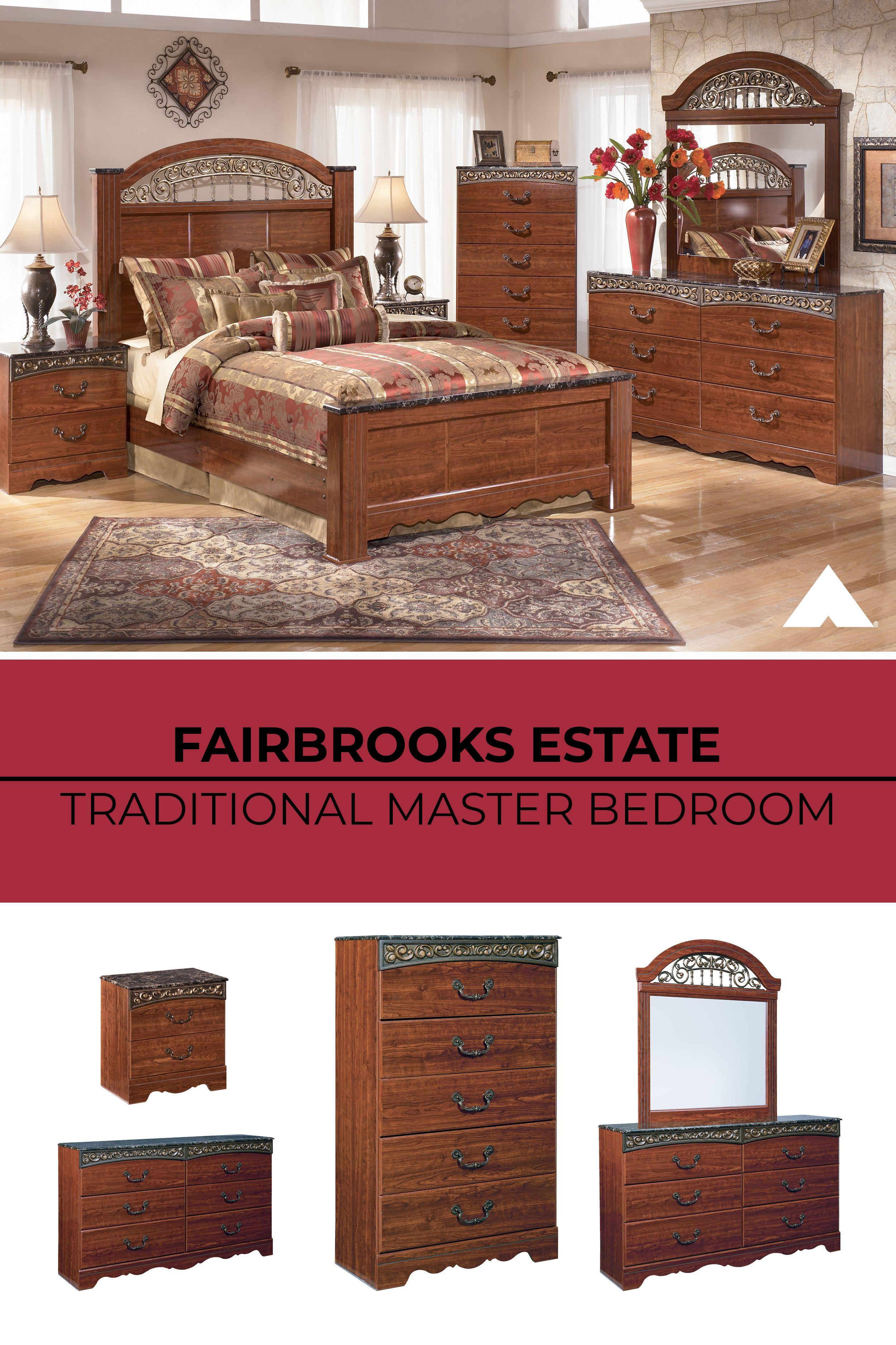 Fairbrooks Estate Reddish Brown Master Bedroom Set By Ashley