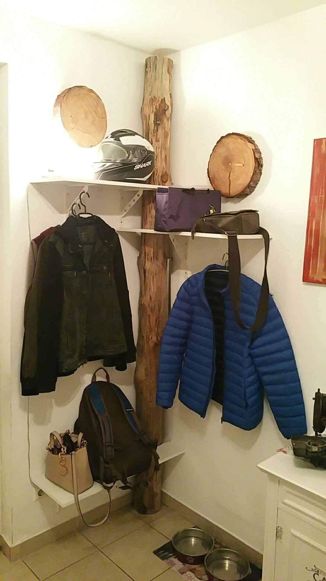 garderobe baumstamm | diy und selbermachen | garderobe, möbel und baum
