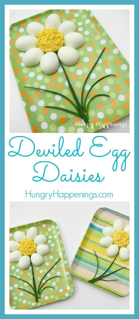 Deviled Egg Daisies - Hungry Happenings Easter Recipes    Deviled eggs are a fav... - #daisies #deviled #easter #happenings #hungry #recipes - #RedDeviledEggs