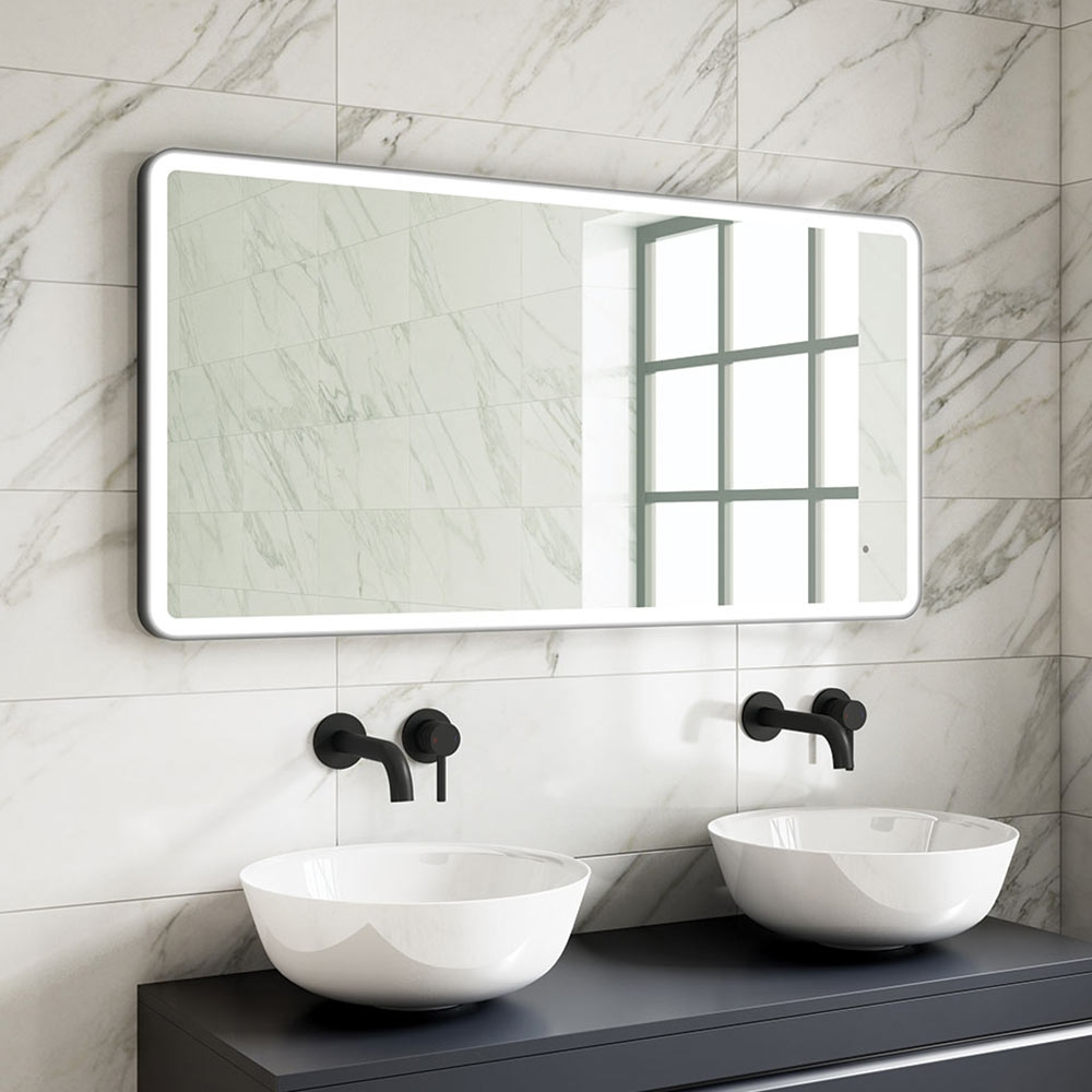 Harbour Status Led Illuminated Black Frame Mirror With