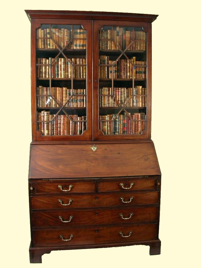 antique secretary bookcase decor living room family