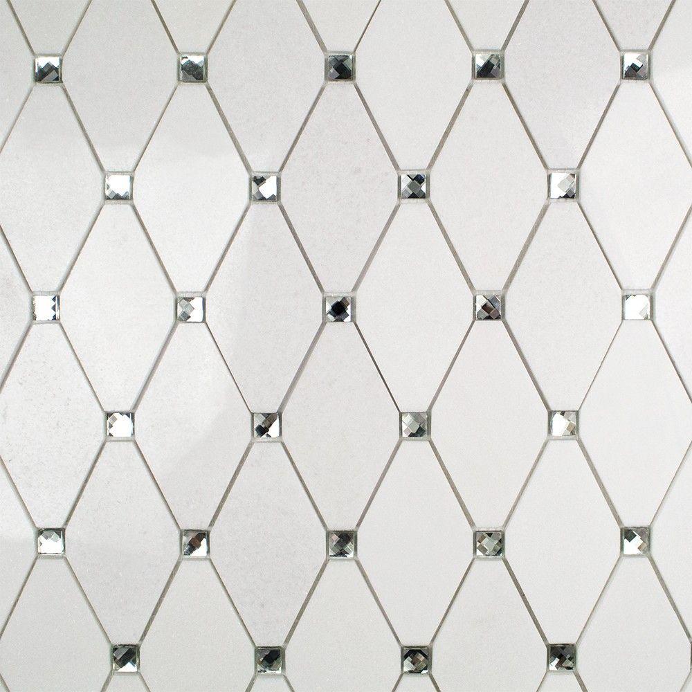 paradigm diamond white thassos and mirror marble and glass