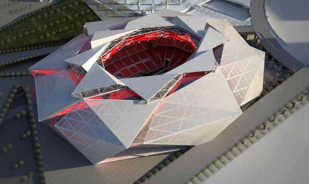 28b2b25b Mercedes-Benz Stadium Home, future home of the NFL Atlanta Falcons ...