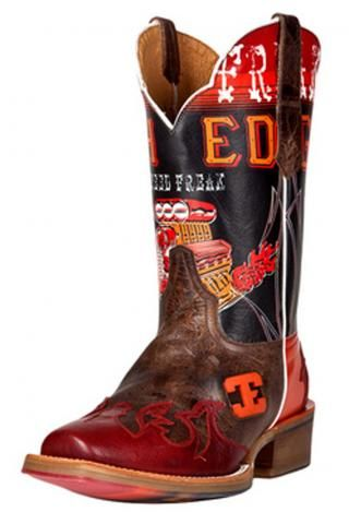 Men's Cowboy Boots Brown Mens Speed Freak Square Toe Cinch Edge ...