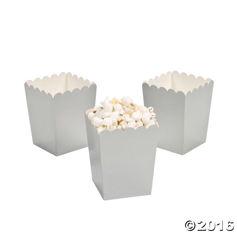 Mini Silver Popcorn Boxes