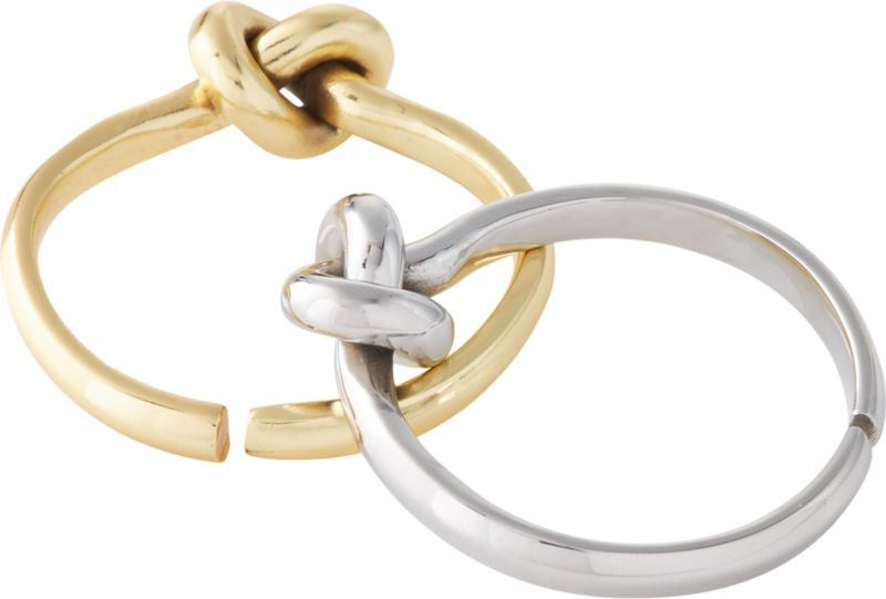 Infinity Gold Napkin Ring | CB2 #napkinrings