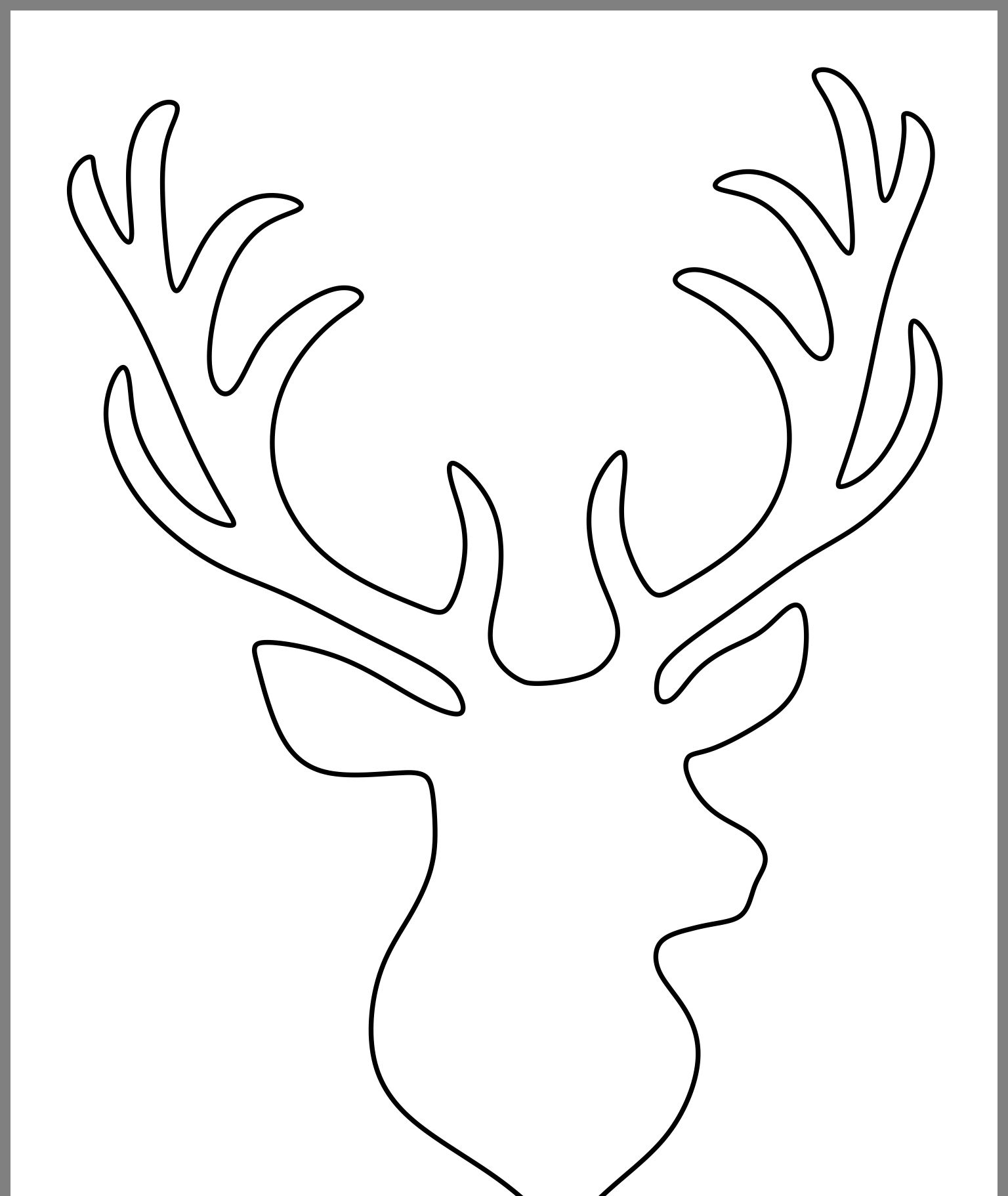 photograph relating to Free Printable Deer Stencils known as Pin upon Xmas things