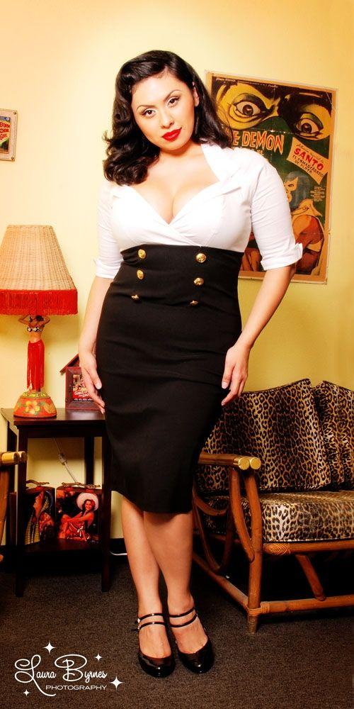 Plus size pinup dresses black