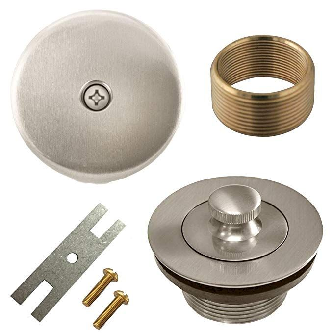 Lift And Turn Twist Bathtub Tub Drain Conversion Kit Assembly All Brass Construction Brushed Nickel Review With Images Bathtub Accessories Bathtub Drain