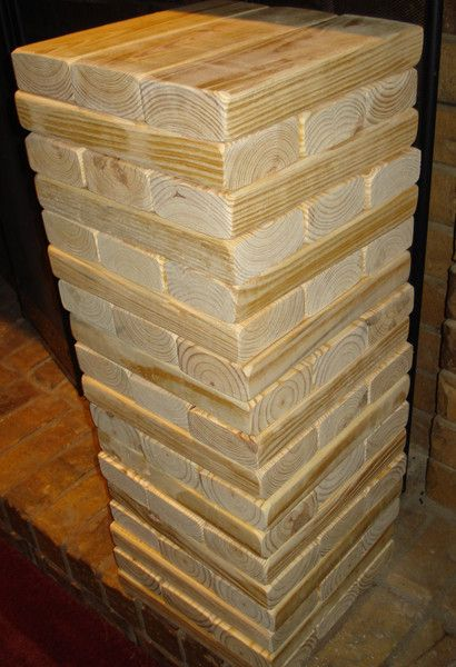 JUMBO Plain 2×4 Outdoor Jenga Set | Outdoor jenga, Jenga ...