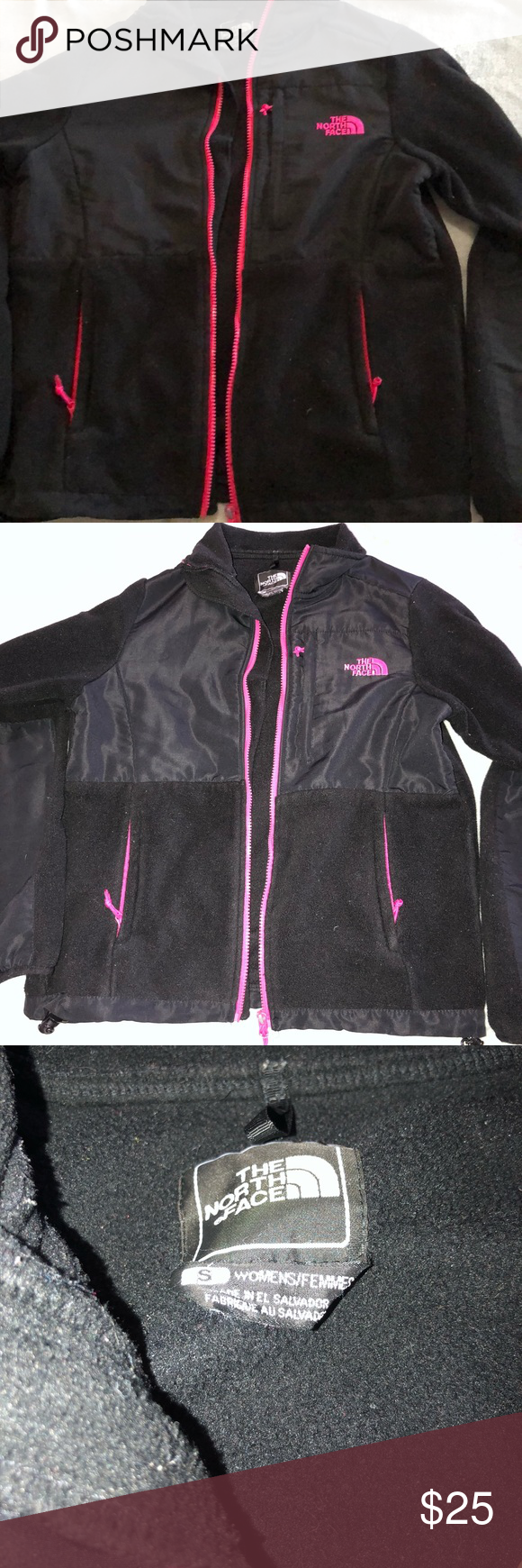 Black And Pink North Face Worn A Couple Of Times In Good Condition The North Face Jackets Coats Pink North Face Black North Face North Face Jacket [ 1740 x 580 Pixel ]