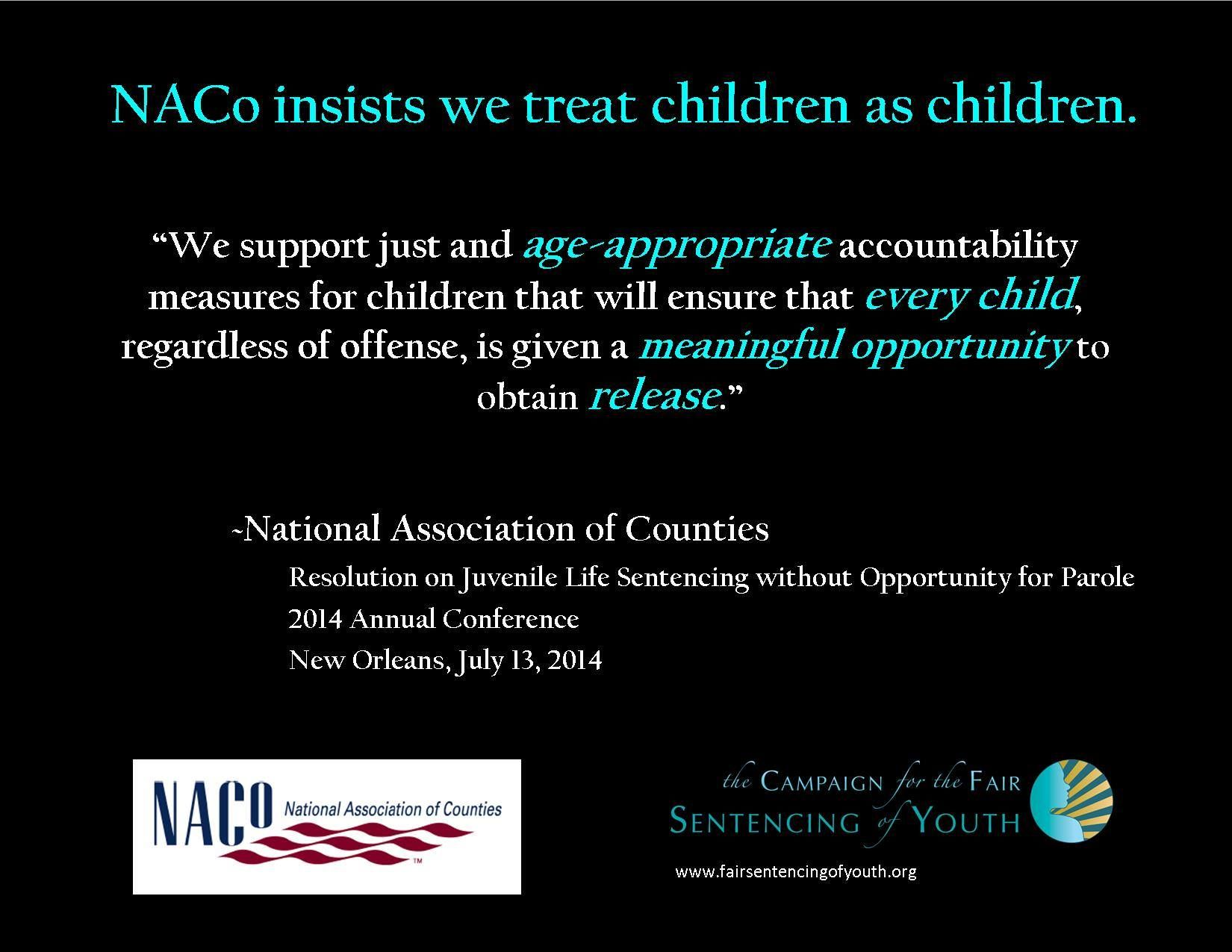 National Association Of Counties Insists That We Treat