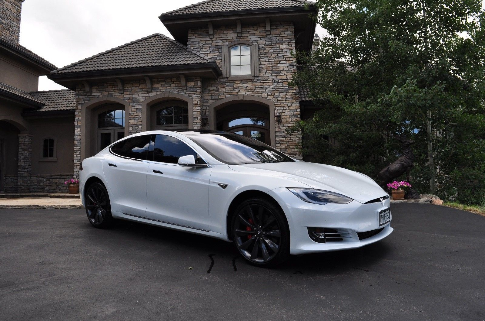 2016 Tesla Model S P 90 D Ludicrous Tesla Model S P90d Ludicrous Pearl White 167k Msrp Every Option 8700 Miles Tesla Model S White Tesla Model S Tesla Model