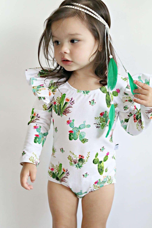 fb1796e71621 Baby Toddler Girls cactus long sleeve leotard Gymnastic Ballet ...