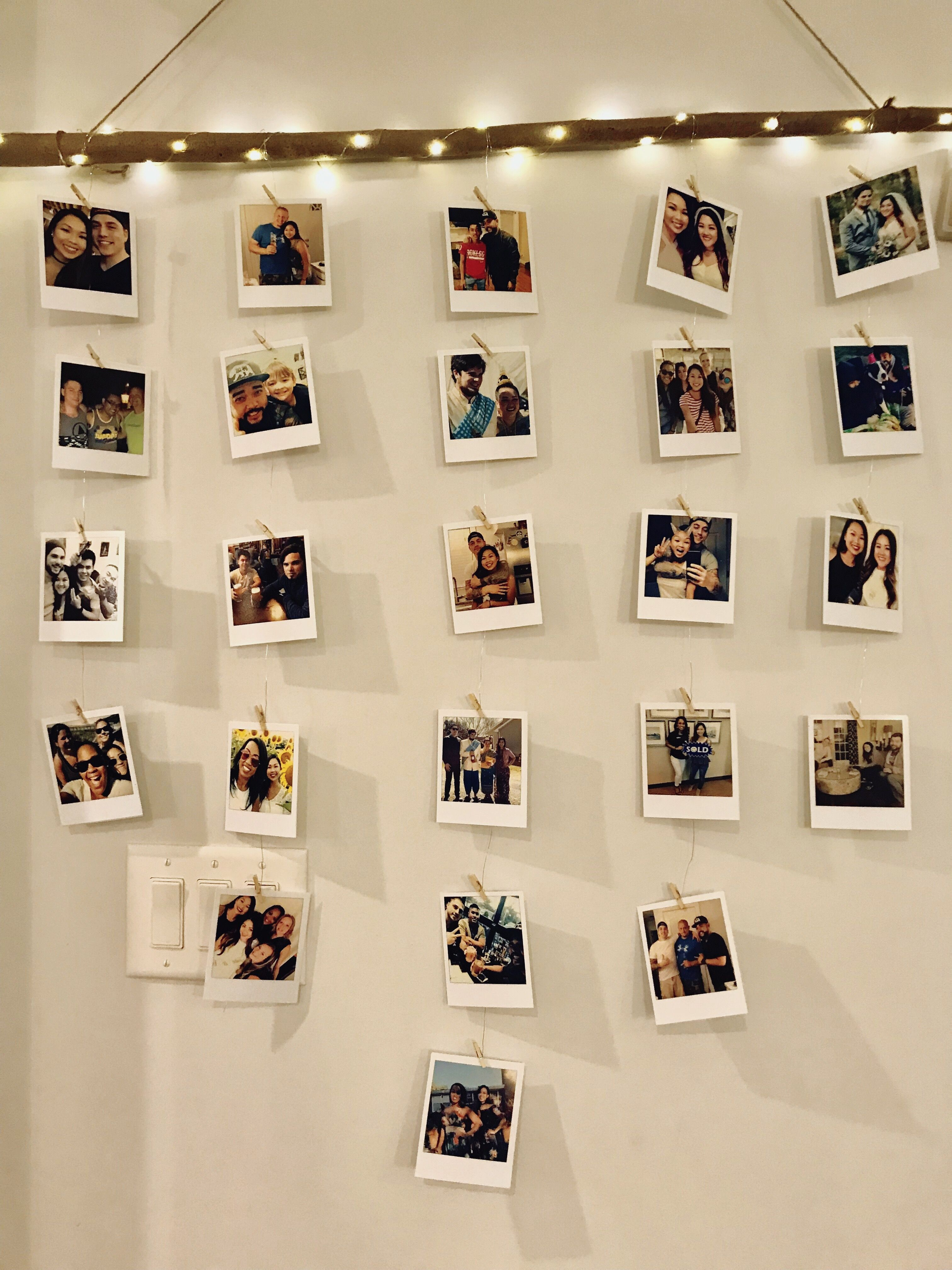 diy Polaroid wall branch  Diy wall decor for bedroom, Photo wall