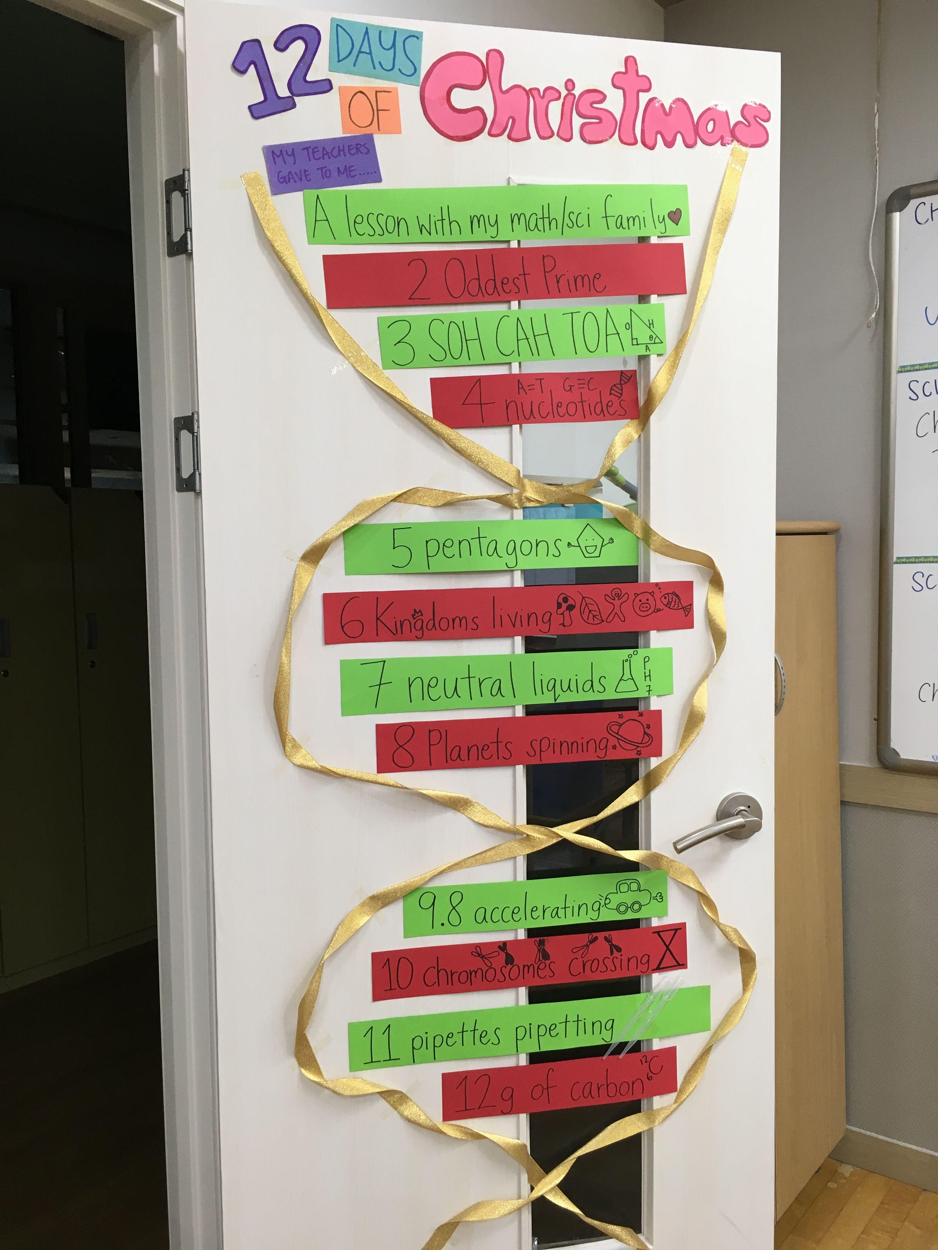 An Original Christmas Idea The Math Science 12 Days Of