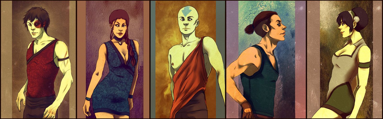 Avatar the last airbender girl characters naked, three men fuck teen