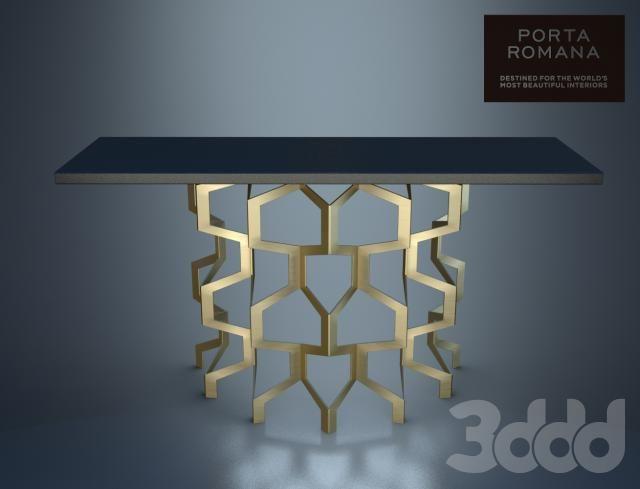 PORTA ROMANA | Honeycomb Console Table | www.duran.nl