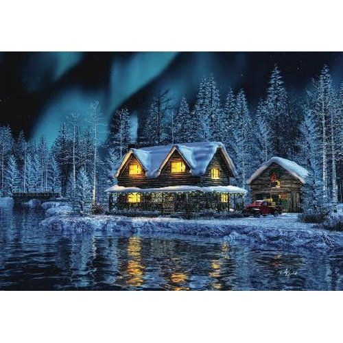 NRA Winter Cabin Scene Christmas Card: Health | Christmas ...