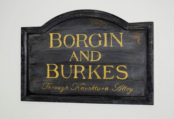 Borgin And Burkes Sign Harry Potter Items Burke Wizarding World Of Harry Potter