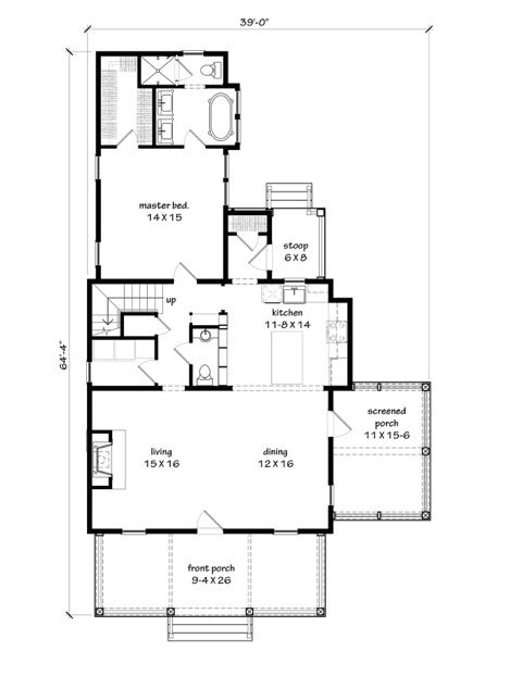 Main Level Floor Plan Farm House Pinterest Farm house and House