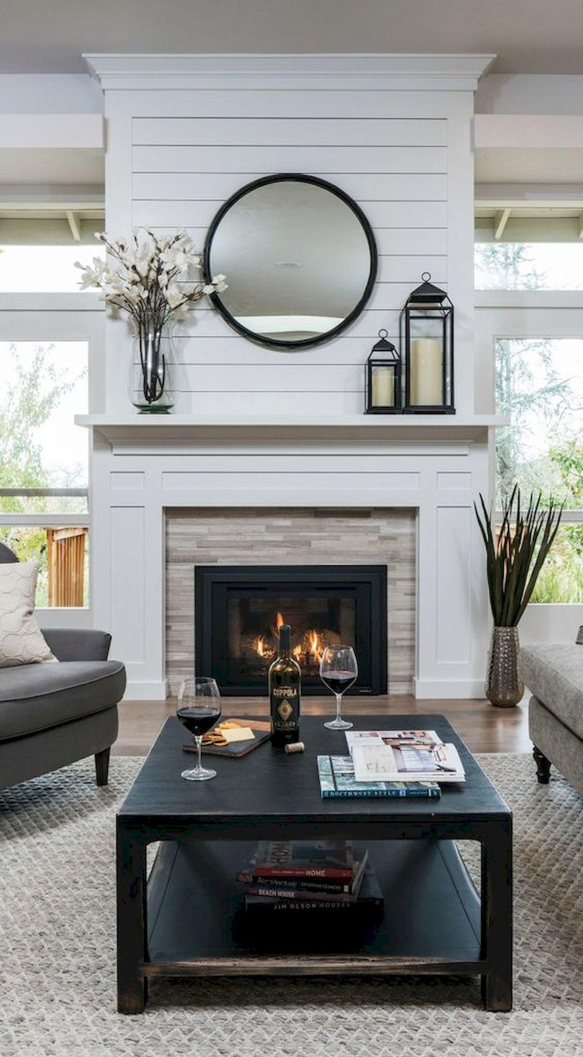 33 Gorgeous Farmhouse Fireplace Decor Ideas And Design Our Next House Farmhouse Fireplace