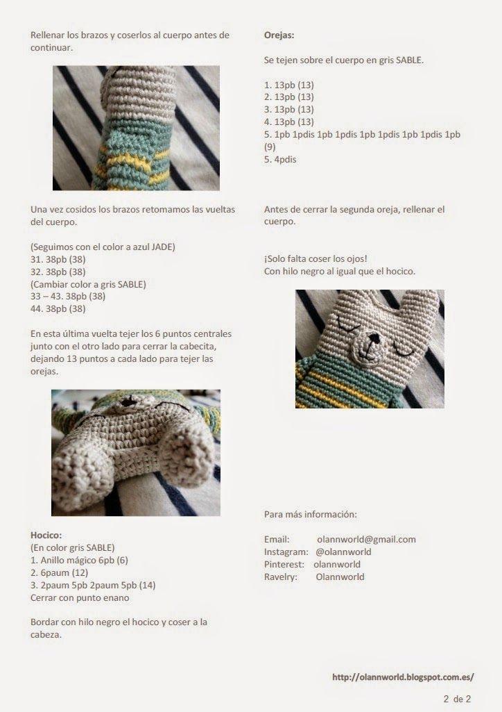 PATRON+PAG+2+osito+amigurumi.jpg (724×1025) | 코바늘 | Pinterest ...