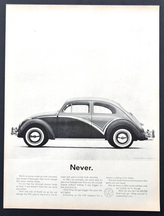 vw volkswagen beetle cars photo vintage print ad  volkswagen print ad