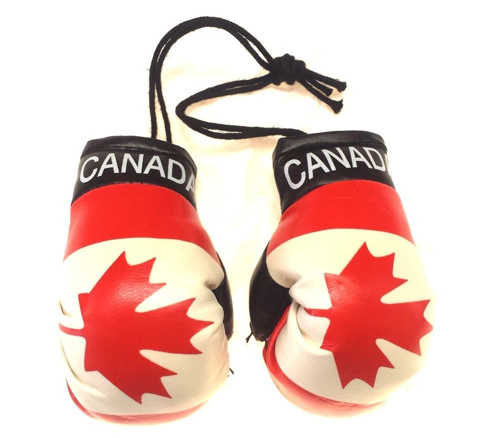 Canada Flag//Canadian mini boxing gloves for your car mirror-Get the best.
