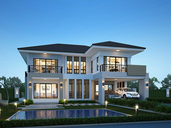 Moderne Hausentwürfe tropical modern house design http homedec in th แบบบ าน l