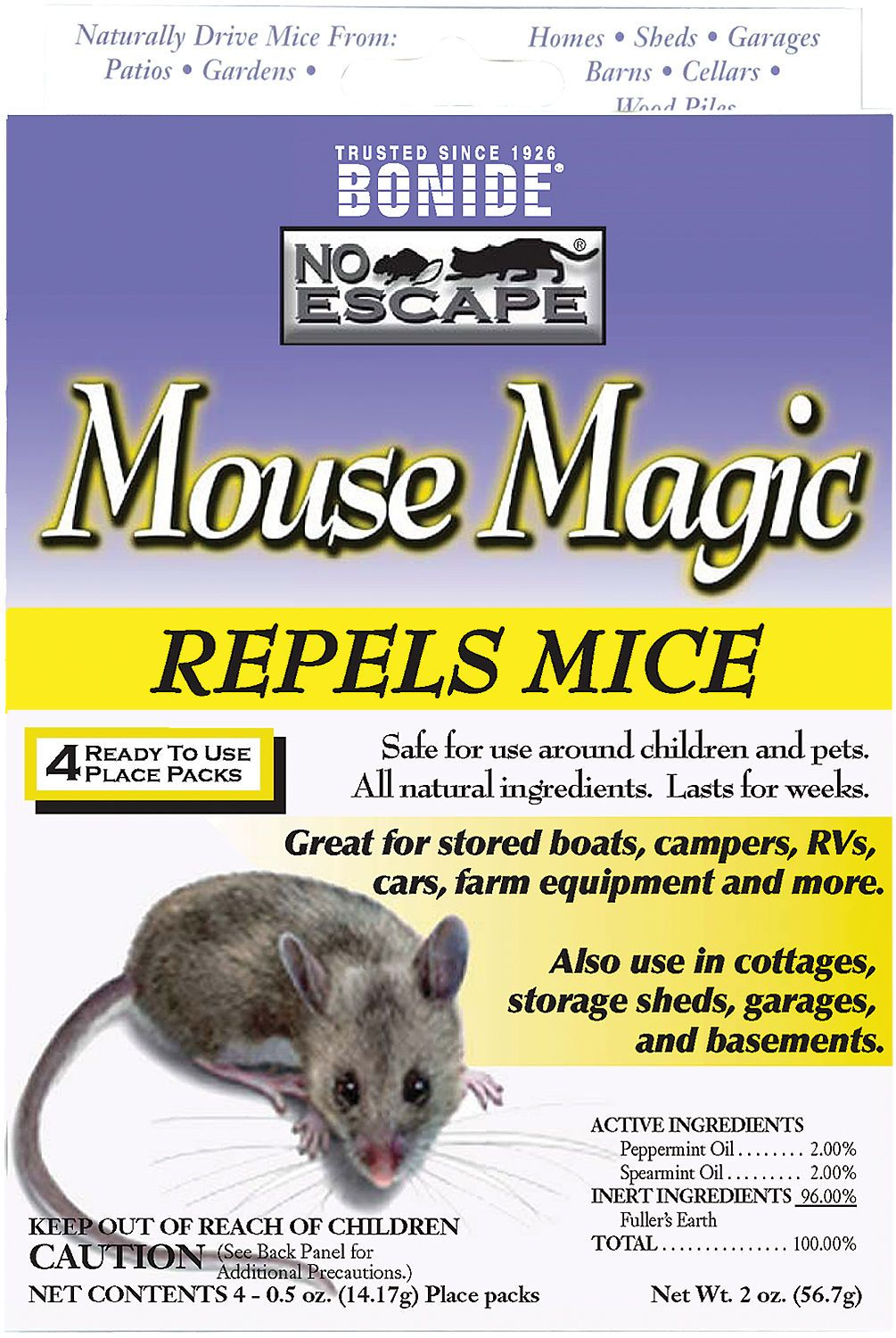 Mouse Magic Natural Mouse Repellent By Bonide Mice Repellent Animals For Kids Pest Control